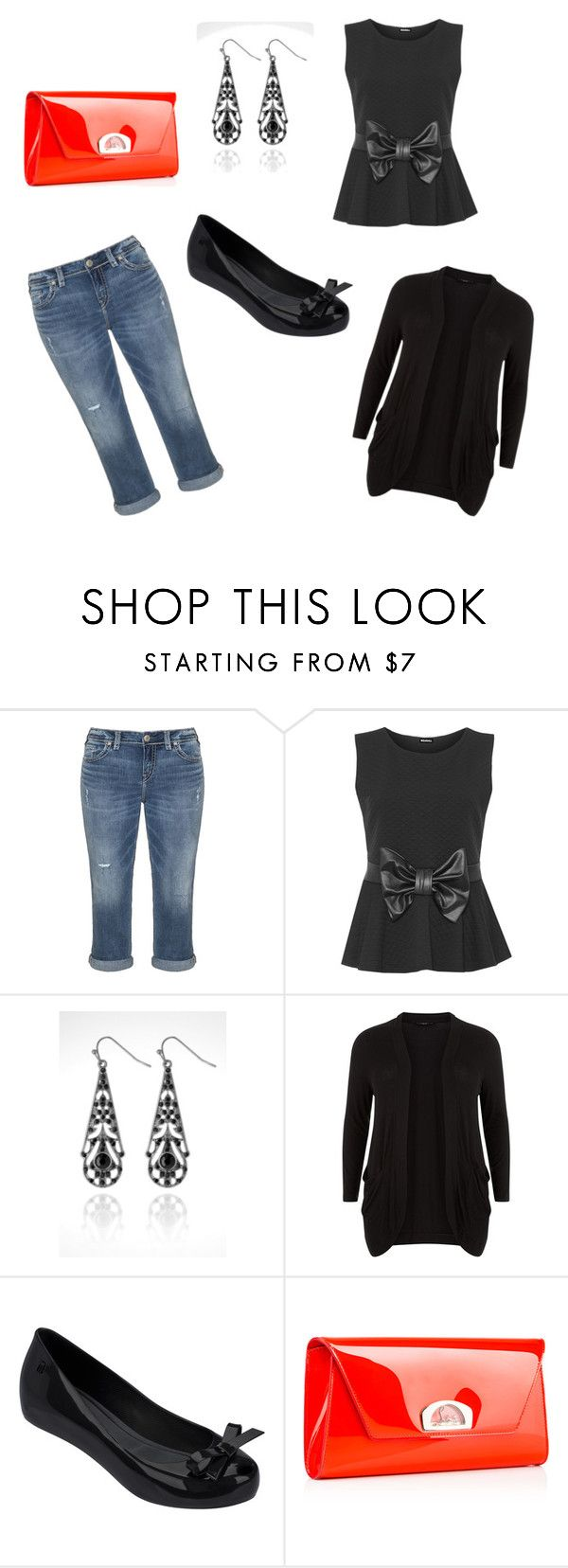"""Untitled #24"" by balog-viki on Polyvore featuring Silver Jeans Co., WearAll, Avenue, New Look, Melissa and Christian Louboutin"