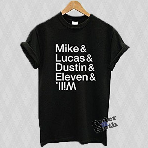 STRANGER THINGS Cast Name T Shirt