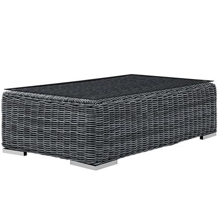 Transitional Gray Outdoor Coffee Table