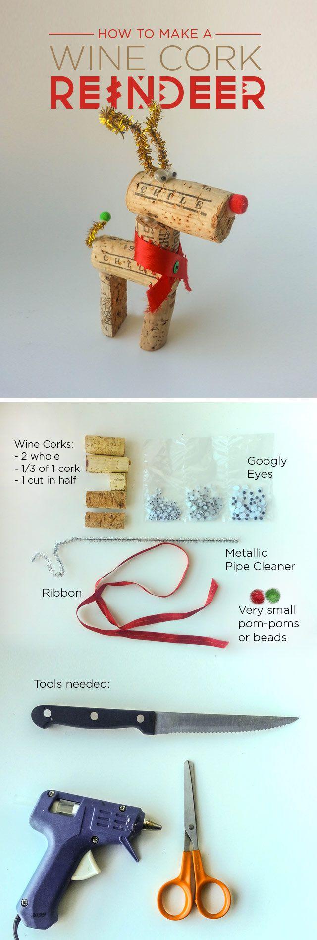 How to make a Wine Cork Reindeer @Carolena Barringer Barringer Belle @MacKenzie Cunningham @Lauren Davison Davison Trojacek because we all know you will have some of these left over