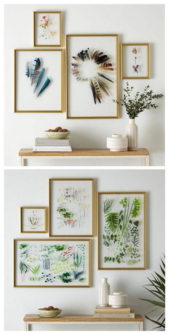 inspiration craft idea for a botanical gallery wall so lovely - Home Decor Pinterest
