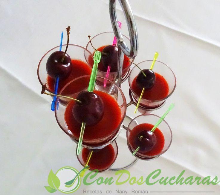 ConDosCucharas.com Gazpacho de cerezas - ConDosCucharas.com