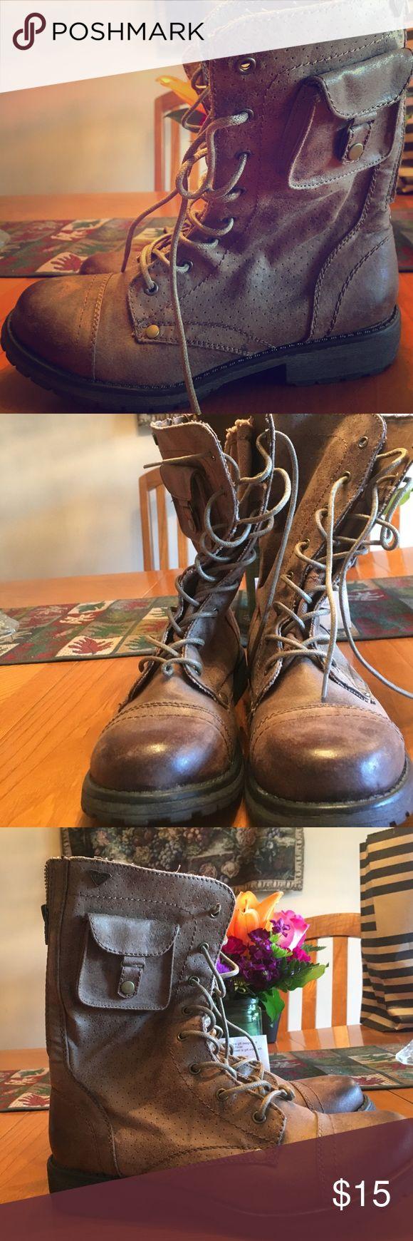 Combat boots Never been worn brown combat boots! Roxy Shoes Combat & Moto Boots