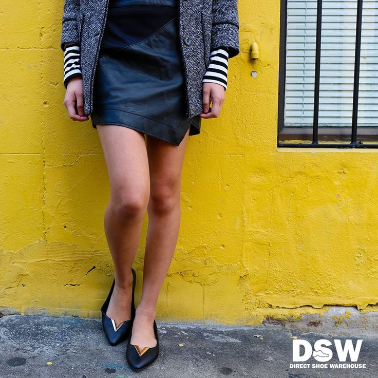 The classic black flats are given a fresh update with metal detailing. Shop Veronica by Billini: www.dswshoe.com.au