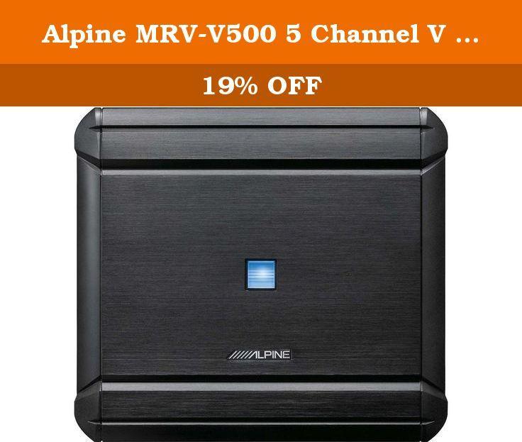 Alpine MRV-V500 5 Channel V Power Digital Amplifier. 490W 5-Channel V-Power Series Class D Amplifier.