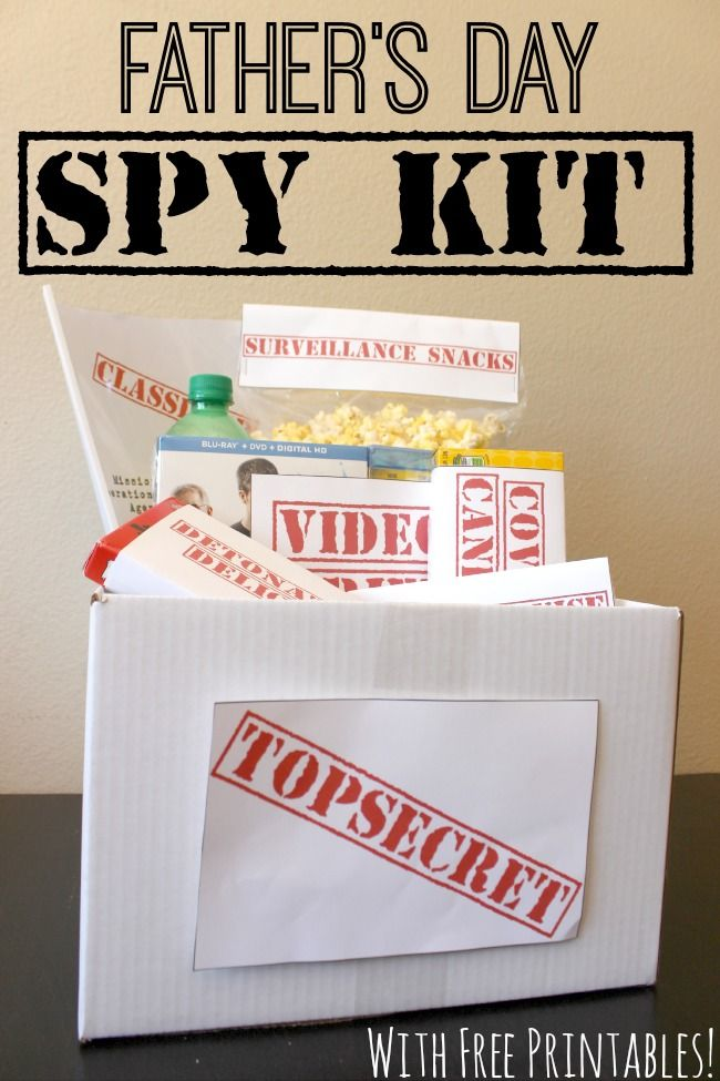 This Father's Day Spy Kit with FREE #printables is the perfect #gift for a #Dad who has everything!