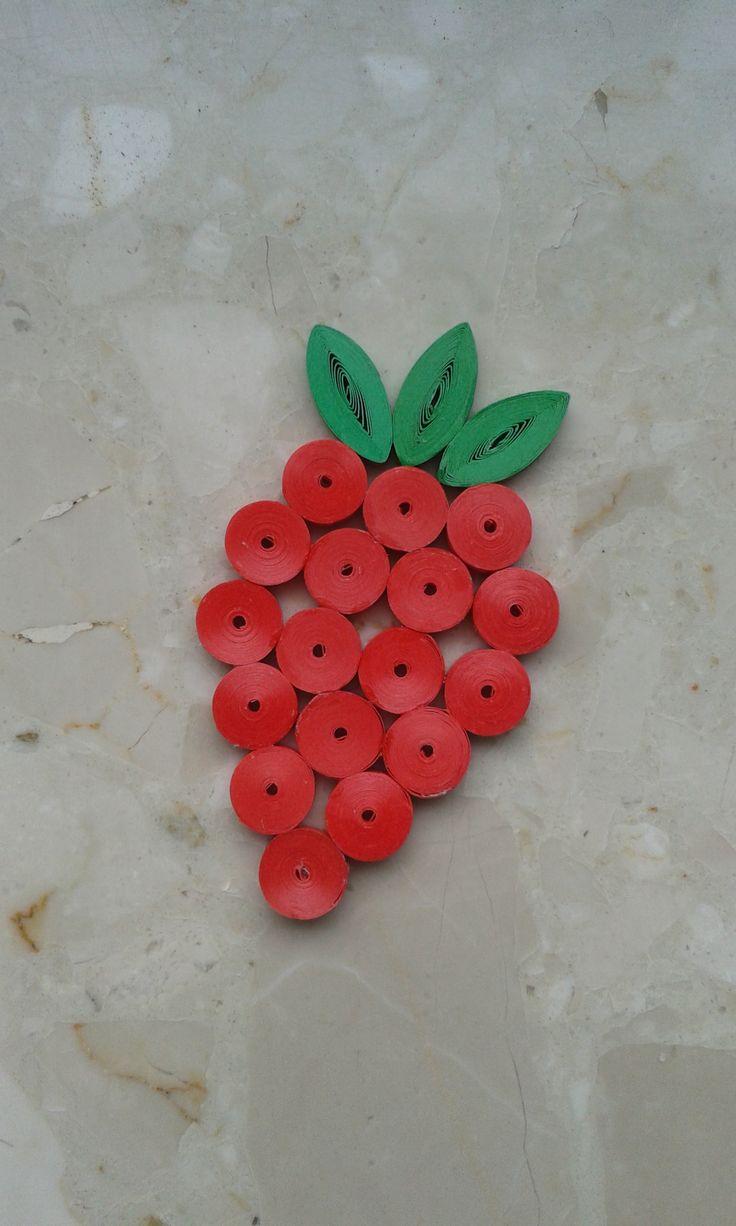 Truskawka strawberry quilling