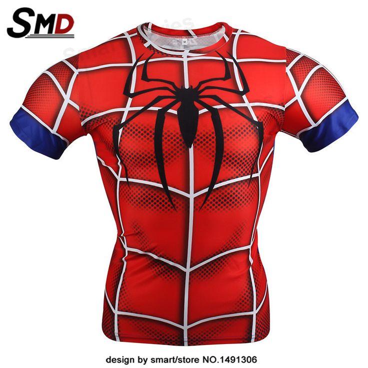Marvel Civil War Spiderman Comic Compression T-Shirt