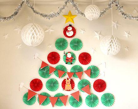 ペーパーファン クリスマスツリー paperfan xmas tree