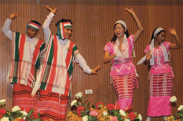 Students perform a Karen dance at Asia-Pacific International University in Thailand last month during the university's annual Cultural Fest. In the audience was Vice Governor Pradit Thipsumalai. The Karen are a people group originally from Burma, which neighbors Thailand.