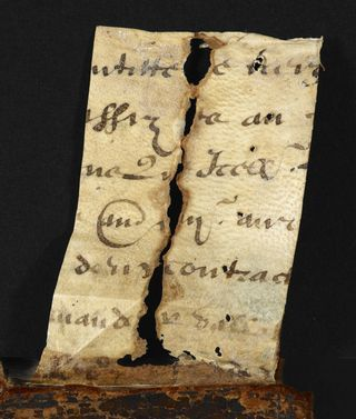 From the Medieval Manuscripts blog post 'Hidden Away'.