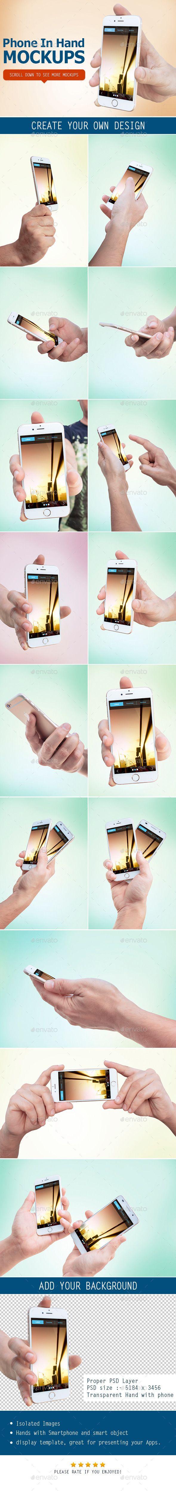 Smartphone in Hand Mockup #mockup #design Download: http://graphicriver.net/item/smartphone-in-hand-mockup/11476488?ref=ksioks