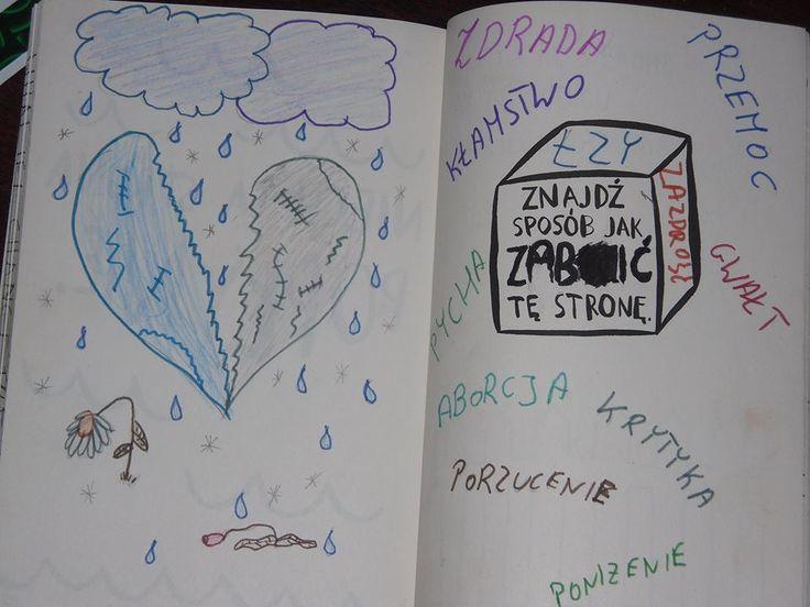 Podesłała Natalia Pytka #zniszcztendziennikwszedzie #zniszcztendziennik #kerismith #wreckthisjournal #book #ksiazka #KreatywnaDestrukcja #DIY