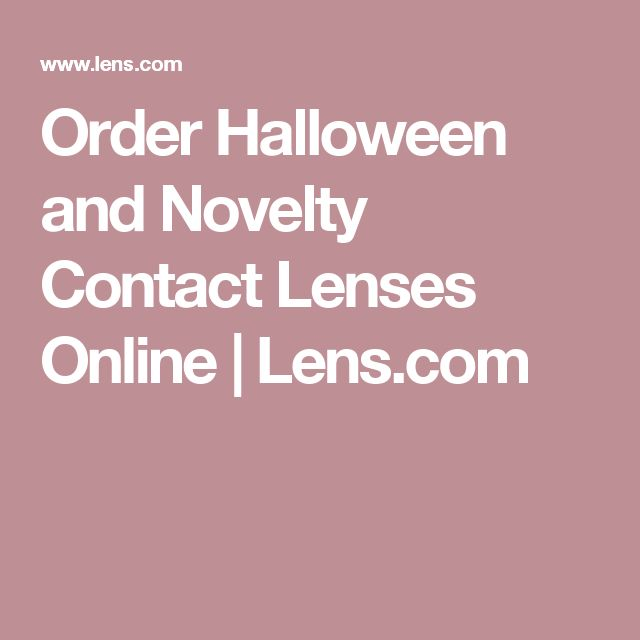 Order Halloween and Novelty Contact Lenses Online | Lens.com