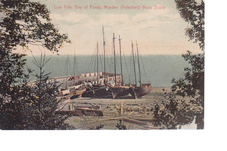 NOVA SCOTIA,Morden,LOW TIDE,SCHOONERS,C.1910,