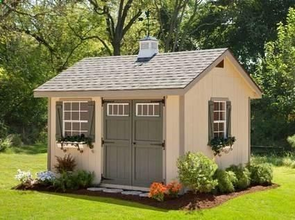 Cute Garden Shed Plans | Heritage Amish Shed Kit 10 x 16