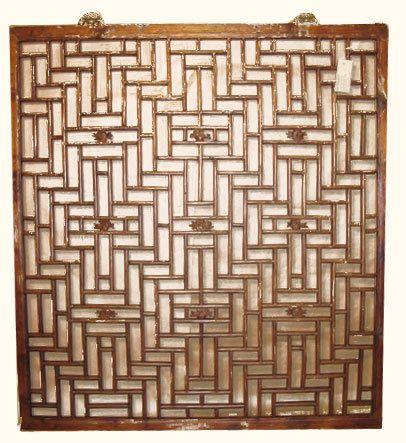 Antique Window Chinese Lattice Design