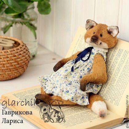 Teddy Bears handmade. fox Kilis. glarchik Larissa. Arts and crafts fair. Chanterelle, metal granulate