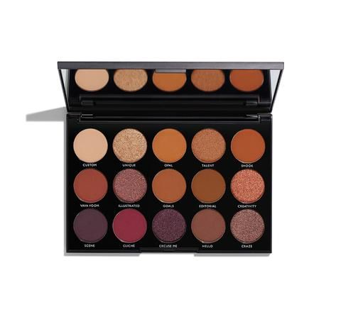 "Description Shade Names Ingredients Exclusively at Morphe! LIMITED-EDITION HOLIDAY COLLECTION This mirrored palette of crazy-creamy, powerfully pigmented, beyond-blendable eyeshadows is ready for a night on the town. Mix, match, and blend the rules.GET THE ""NIGHT MASTER"" LOOK: see featured modelEYES Brow Highlight: Unique Crease: Opal (inner), Shook (center), Hello (outer) Eyelid: Unique (all-over) Lower Lashline: Va Va Voom Eyeliner: Gel Liner in Black Lashes: BombshellLIPS C..."