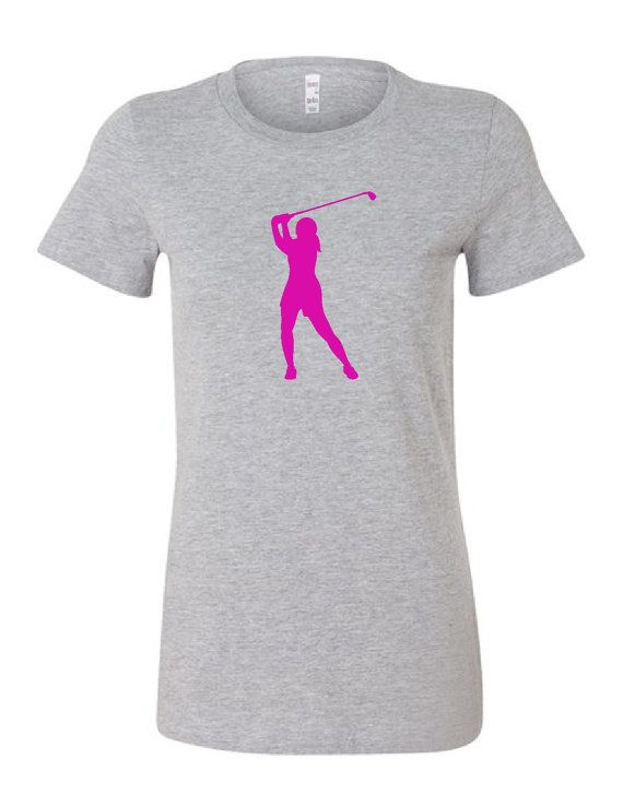Womens golf tshirt by Chick9Clothing on Etsy