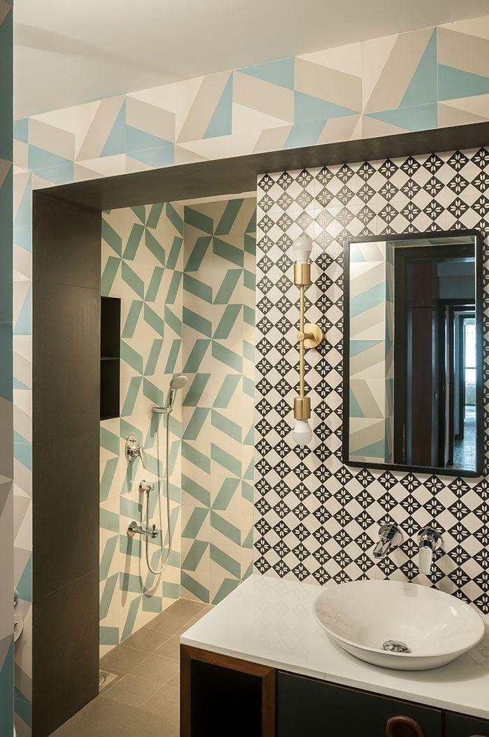 Muselab Tiles An Apartment In Mumbai With 21st Century Art Deco Sophistication Apartment Interior Modern Art Deco Art Deco