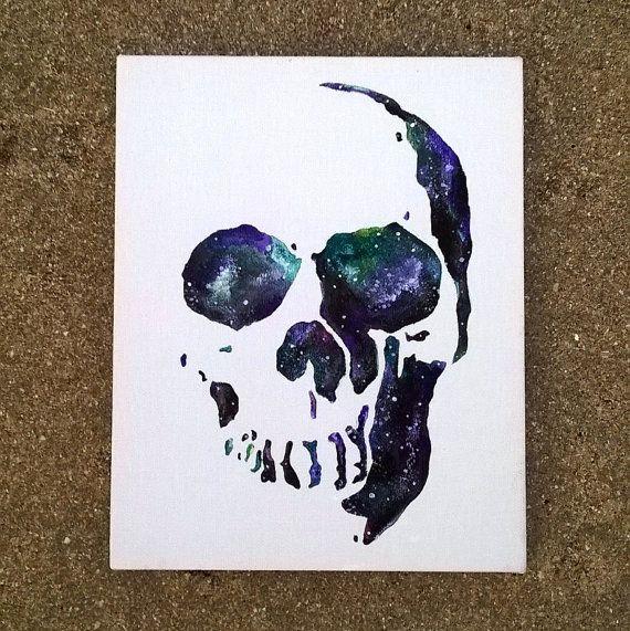 Skull Painting || Galaxy Painting || Gothic Art || Galaxy Art || Custom Painting…