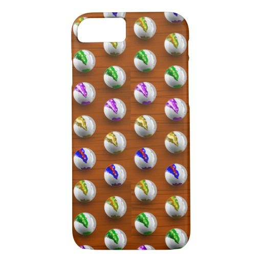 Marbles on Wood Pattern iPhone 7 Case