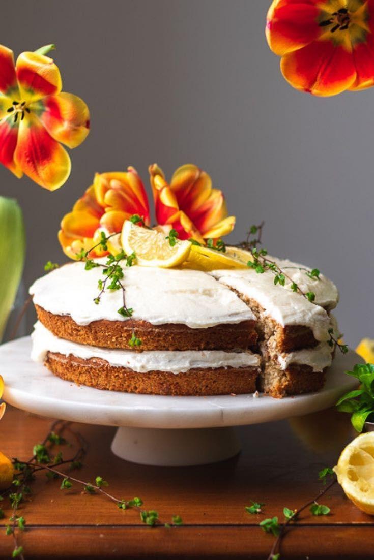 Super Vegan Lemon Almond Cake Recipe Almond Cakes Lemon Birthday Personalised Birthday Cards Beptaeletsinfo