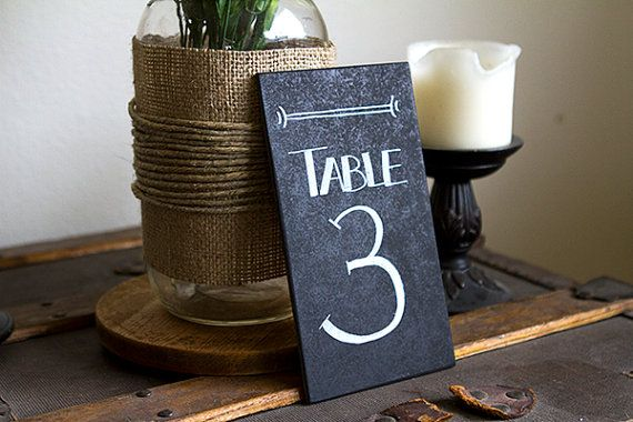 Chalkboard Table Numbers Wedding Table Numbers by BordenSpecifics