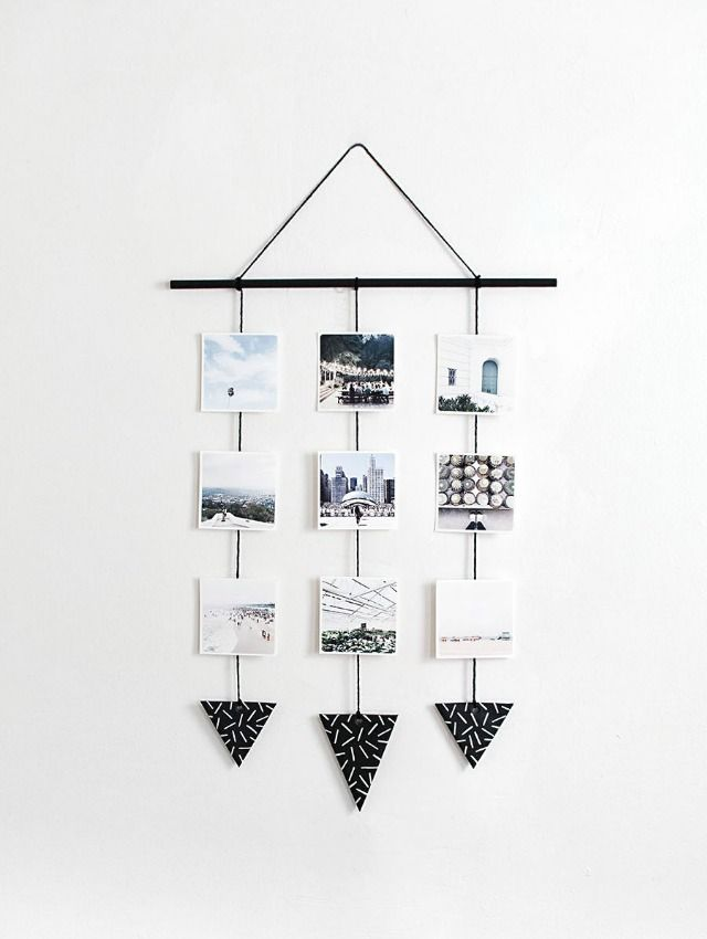 DIY: colgante de pared con fotografías | Decoración