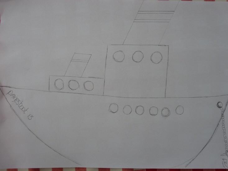 Kant en klaar beschrijving om een gave Stoomboot van Sinterklaas te maken op je muur, deur of raam! Leuk om samen met de kinderen te doen.