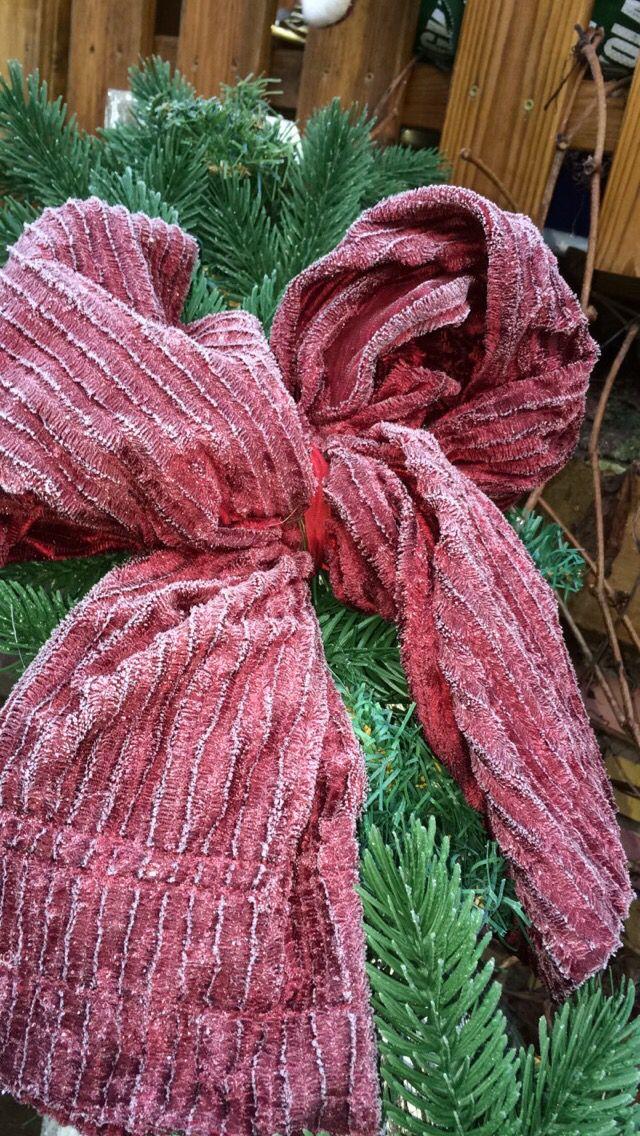 Old curtains make great ribbons :)