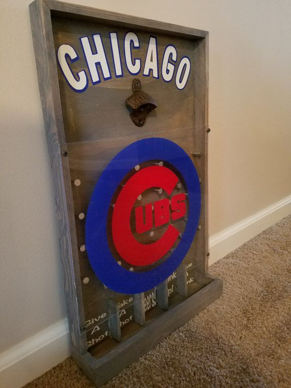 Chicago Cubs Drinko Plinko Bottle Opener Game by HoosierWoodbox