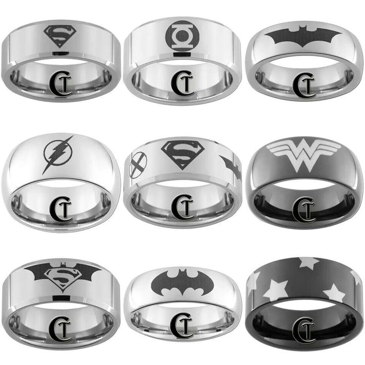 Superhero rings..must have them all