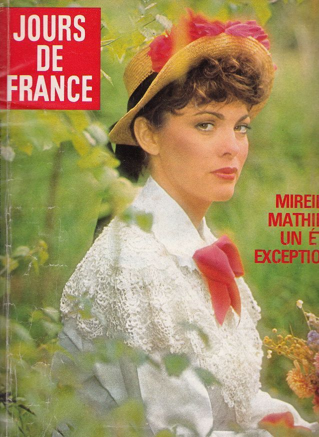 Magazine jours de france *mireille mathieu dani chantal goya carene cheryl