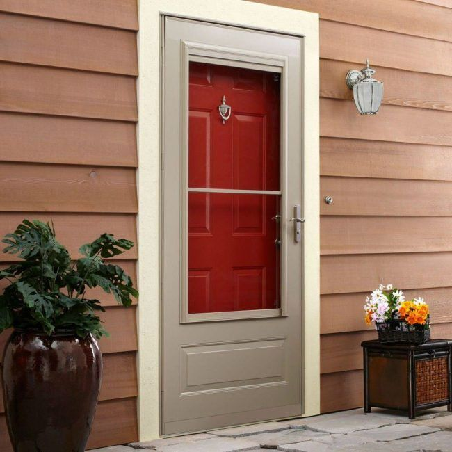 The Best Storm Doors For Your Home Aluminum Storm Doors Glass Storm Doors Best Storm Doors