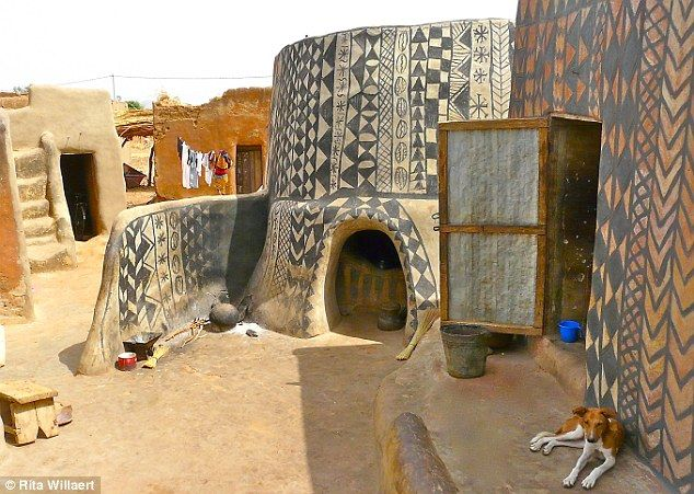 Unchanged: The traditional houses in Tiebele are painted with geometric designs, symbols and icons also a unique way to decorate for a celebration.