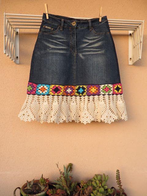 Lavoresfl: A saia reciclada...