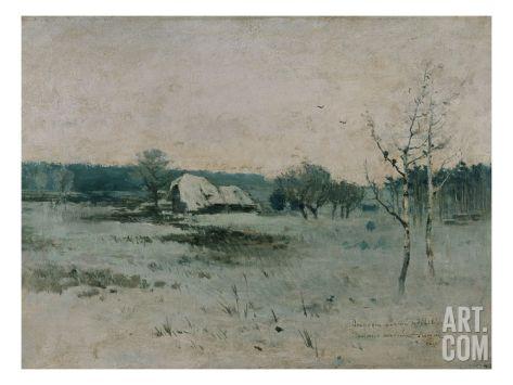Wintermorgen Art Print by Antonin Slavicek at Art.com