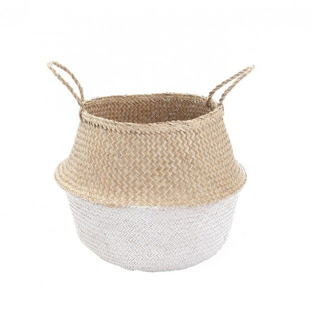OlliElla | White Dipped Belly Basket – Small