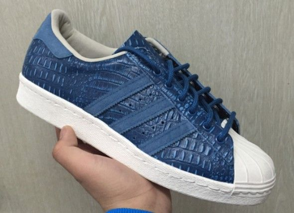 Adidas Superstar Blue Leather