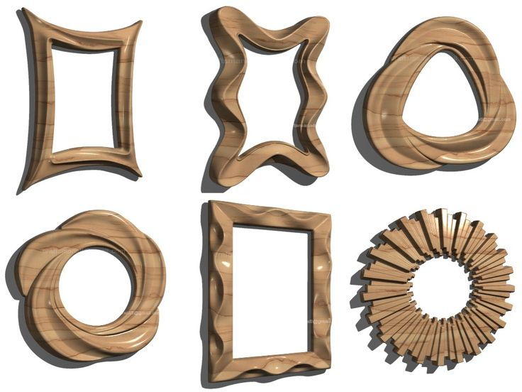 Pack Mirror Frame Desing. 18 HIGH QUALITY MODEL FOR CNC AND CARVING MACHINE  (Stl format)