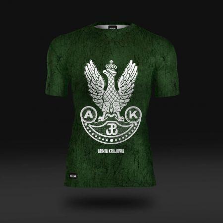 Koszulka sportowa Koszulka do biegania termoaktywna Orzeł Armii Krajowej  - odzież sportowa Red is Bad