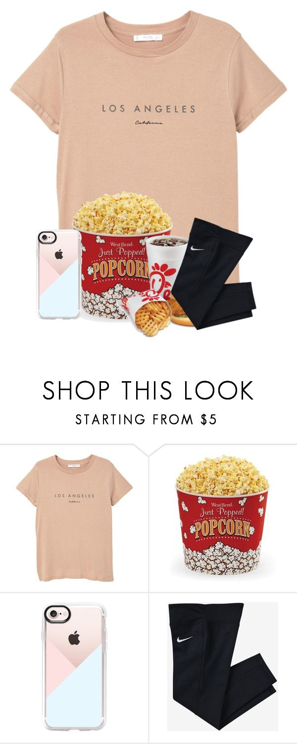 """Going to the movies and the Mall today"" by ellisonharris ❤ liked on Polyvore featuring MANGO, West Bend, Casetify and NIKE"