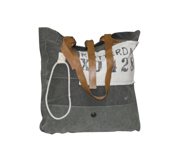 Nautical Bags The bags are made from recycled army tent canvas, meaning they are water resistant and durable. The handles and clasps have been detailed in leather and are suitable for men and women - Darlin NZ