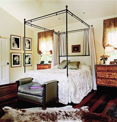 A Custom Alpaca Bedspread Gives This Master Bedroom Some Serious Slumber Appeal Traditional