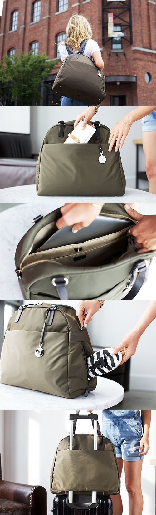 """""""The OG"""" - lightweight travel bag, tech friendly laptop tote, and stylish gym bag. Designed by Lo & Sons - loandsons.com."""