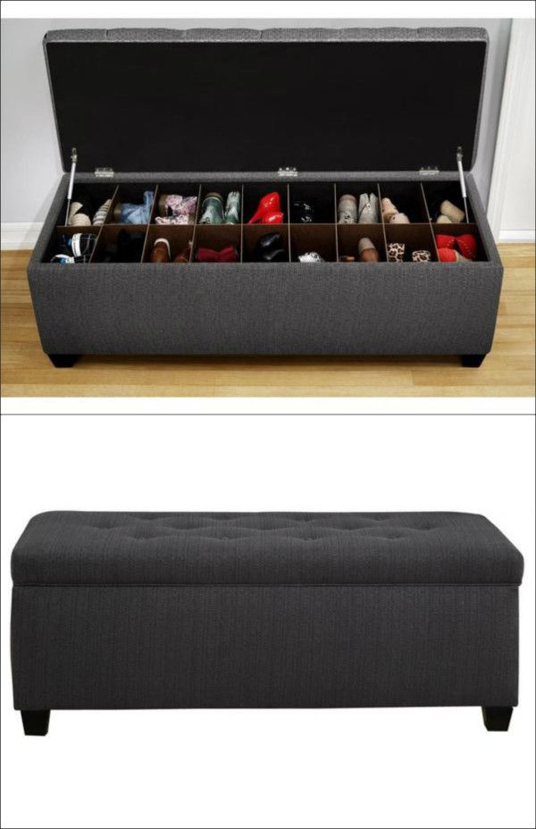 6 Creative Places To Store Shoes - 25+ Best Ideas About Ottoman Storage On Pinterest Cushion