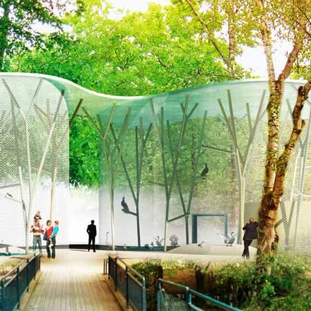 Popular Aviary by Group with Guscetti u Tournier structural engineering