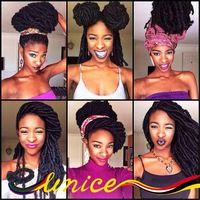 """Cheap Hair Extensions 20"""" Synthetic Faux Locs Crochet Braid Hair Soft Faux Locs Crochet Braids Senegalese Twist Box Braids Hair"""